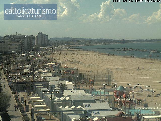 Cattolica webcam - Spiaggia Lato Nord webcam, Emilia-Romagna, Rimini